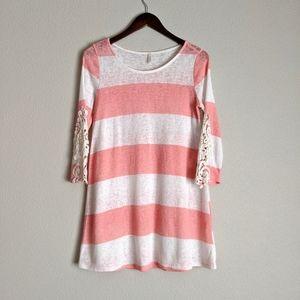 PinkBlush Stripe Maternity Top Medium